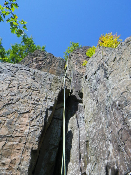 Rock Climbing Photo: The awesome jungle gym like start to Letterbox