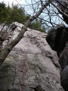 The shallow dihedral this route follows.