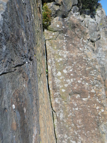 Rock Climbing Photo: Amazing second section of Downcast. Pic 2