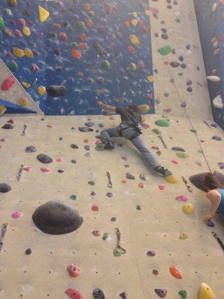Climbing an overhang