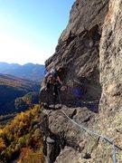 Rock Climbing Photo: p3 nice fall day.  Matt Nuaman.