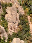 Rock Climbing Photo: Climber on Fun with Flanders at Simpson Rock (take...