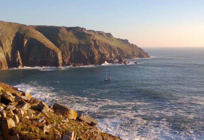 Rock Climbing Photo: Looking across Jenny's Cove from Beaufort Buttress...