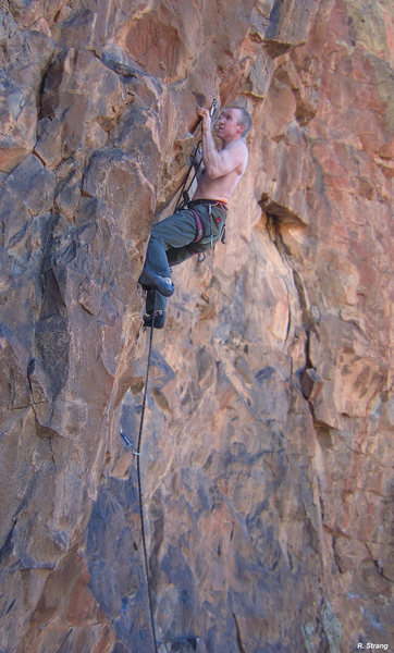 Starting the crux<br> Tupper-Where (5.11+)