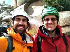 Rock Climbing Photo: Ross and I in Vedauwoo after Edward's Crack.