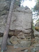 Rock Climbing Photo: Beer Goggles on the right, and Tall Boy to the lef...