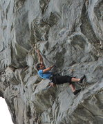 Rock Climbing Photo: Greg Loomis reaching the second crux