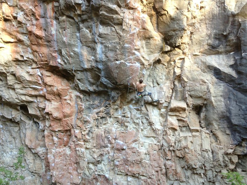 Rock Climbing Photo: Tyson Ferryman, before the hard stuff. Photo by Mi...