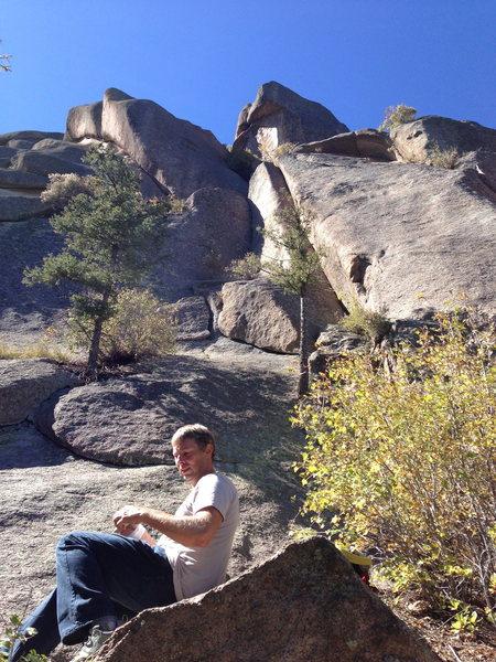 Rock Climbing Photo: Looking up toward the start.