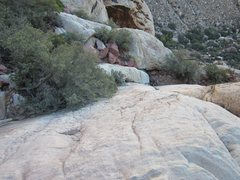 Rock Climbing Photo: Looking down at a little down scrambling to get to...