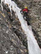 Rock Climbing Photo: MTN Hardware Ridge top pant in Bozeman Icefest 3 y...