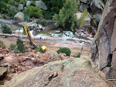 Rock Climbing Photo: Mini-pile.