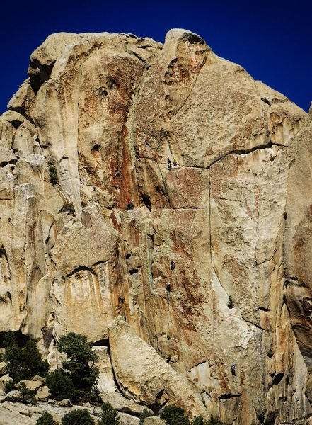 Rock Climbing Photo: Climbers on various routes on Comp Wall. Shot duri...