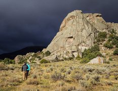 Rock Climbing Photo: Castle Rock beginning to dry out after a late Sept...