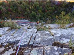 Rock Climbing Photo: Don't follow the red arrow