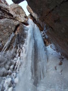 Rock Climbing Photo: Current P2 condition.