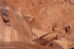 Rock Climbing Photo: Rachel following the Fourth Pitch