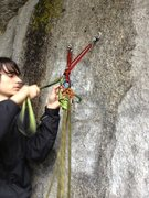 Rock Climbing Photo: escaping belay + counterbalance rap with hedden