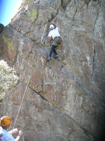Doug climbs Rock the Vote.