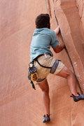 Rock Climbing Photo: Isaiah jamming Flakes of Wrath Direct