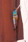 Rock Climbing Photo: Jenna sending her first Creek route!