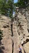 Rock Climbing Photo: Set as a top rope after leading it for the group. ...