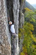 Rock Climbing Photo: The corner on the upper half of the second pitch, ...