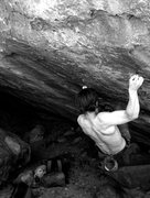 Rock Climbing Photo: Problematics.  One move in.  Starts with right han...