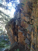 Rock Climbing Photo: This is the slightly exposed walk off for the Ranc...