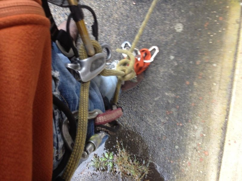 Rock Climbing Photo: fall off belay right side