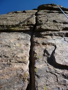 Rock Climbing Photo: A good view of the crack.