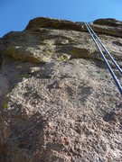 Rock Climbing Photo: A good view of the upper section.  Not much pro ne...