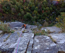 Rock Climbing Photo: Following third pitch was fun; the moves to the bo...