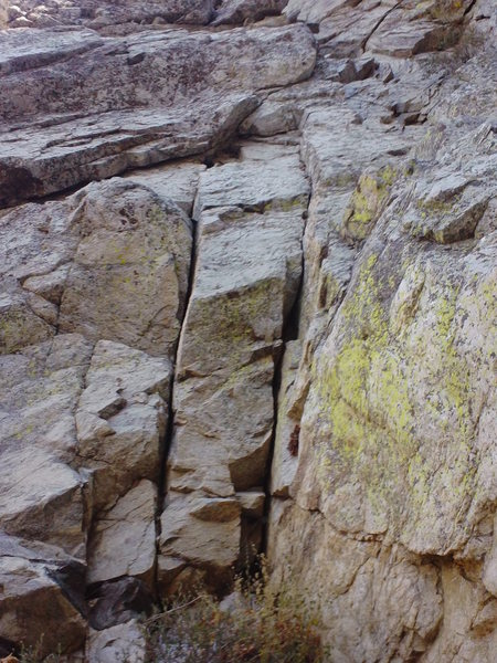 Rock Climbing Photo: P1 start. Easy cool moves. Decent solo anchor area...