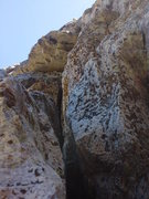 Rock Climbing Photo: More of P1. I did not follow the crack to the top ...