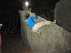 Rock Climbing Photo: Steven St. Pierre cruising around the middle of Ro...
