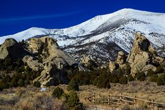 Rock Climbing Photo: The Castle in March. Taco on the far left, Fenceli...