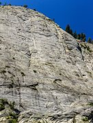 Rock Climbing Photo: 3 climbers on the regular route, 2 on the memorial...