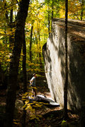 Rock Climbing Photo: contemplating the crack in the fall