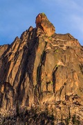 Rock Climbing Photo: Topo data for SE Face Route and standard rappel ro...