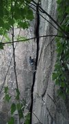 Rock Climbing Photo: Tom Nonis leading... Photo by Dima Shirokov