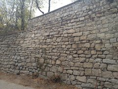 Rock Climbing Photo: Retaining wall