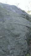 Rock Climbing Photo: Crag 3; Curving Crack (5.2) straight up the middle...