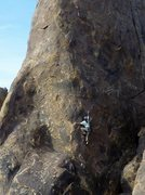 Rock Climbing Photo: Blair Nicodemus pulling through the crux of 'My Li...