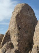 Rock Climbing Photo: Amy Ness enjoy the upper reaches of 'My Little Lab...