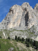 Rock Climbing Photo: First Sellaturm, and the Trenker Crack is clearly ...