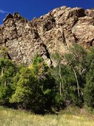 Rock Climbing Photo: The sunny Bumblebee South facing Wall. The climbin...