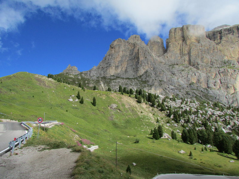 Sella Towers from SW.