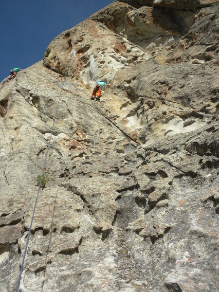 Rock Climbing Photo: Pierce just below the crux section of Bumblie Tumb...