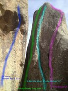 Rock Climbing Photo: These are the routes on the N side of Cleaver. Ten...